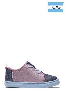 Розовые эластичные туфли на шнуровке с блестящим эффектом TOMS