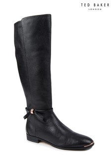 Ted Baker Lyklal Leather Bow Tall Boot