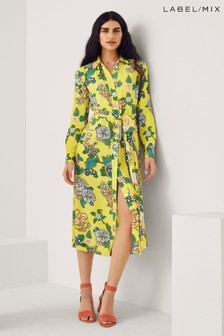 Mix/Kitri Studio Floral Print Shirt Dress