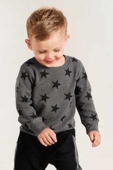 Star All Over Print Ottaman Crew Top (3mths-6yrs)
