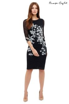 Phase Eight Navy Daisy Floral Print Lace Dress