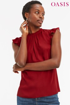 Oasis Red Tie Back Pie Crust Shell Top