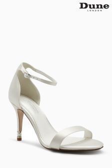 Dune Merelda Ivory Satin Two Part Sandal
