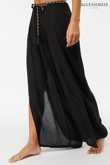 Accessorize Black Wrap Trouser