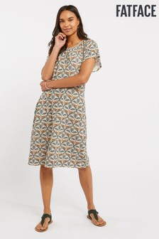 FatFace Blue Lucy Lounging Leopard Dress
