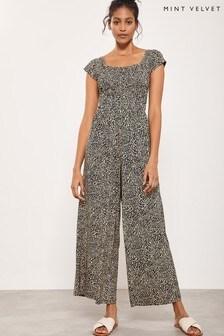 Mint Velvet Leopard Jersey Jumpsuit
