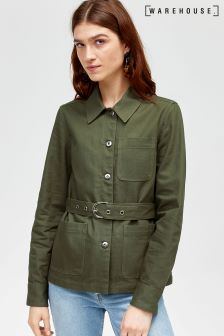 Warehouse Khaki Carpenter Shacket