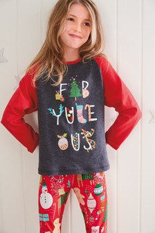 Christmas Slogan Pyjamas (3-16yrs)