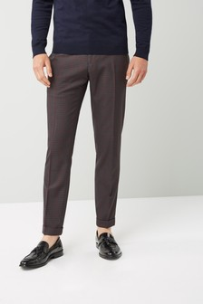 Skinny Fit Check Suit: Trouser