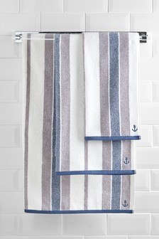 Marl Stripe Towel