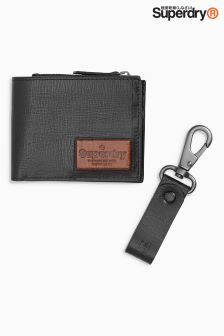 Superdry Jackson Wallet And Keyring Set