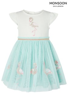 Monsoon Baby Disco Flamingo Dress