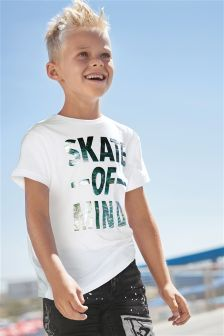 Foil Slogan T-Shirt (3-16yrs)