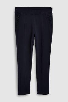 Frill Pocket Ponte Trousers (3-16yrs)