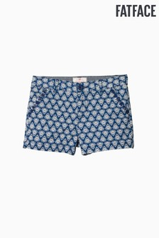 FatFace Blue Alice Print Chino Short
