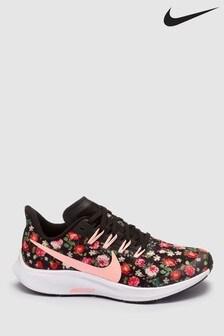 Nike Run Black/Floral Air Zoom Pegasus 36 Youth Trainers
