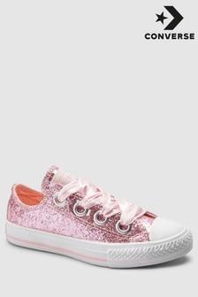 Converse Pink Glitter Ribbon Trainer