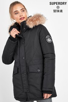 Superdry Black Everest Parka
