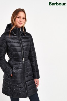 Barbour® Tartan Navy Belted Murray Padded Jacket