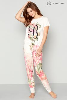 B by Ted Baker Pink Painted Posie Printed Jersey Jogger