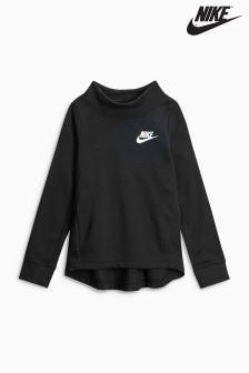 Nike Black Long Sleeve Fleece Crew