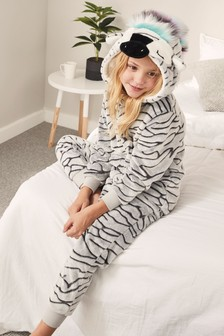 Zebra Fleece All-In-One (3-16yrs)