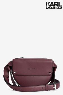 Karl Lagerfeld Burgundy Icon Belt Bag