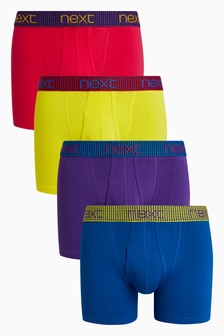 Contrast Waistband A-Fronts Four Pack