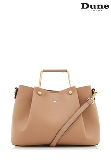 Dune London Camel Synthetic Handle Tote Bag