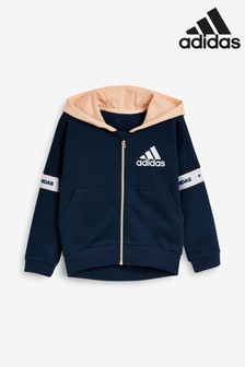 adidas Little Kids Navy Full Zip Hoody