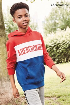 Abercrombie & Fitch Red/Navy Colourblock Sweater
