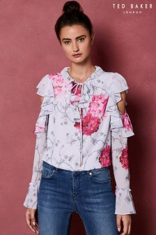 Ted Baker Babylon Ruffle Sleeve Blouse