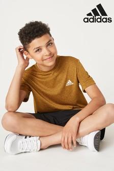 adidas Gold Textured T-Shirt