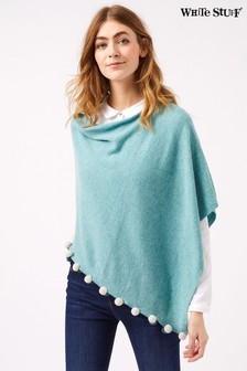 White Stuff Green Lightweight Penelope Poncho