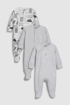 מארז שלוש חליפות פיג'מה בדוגמת ג'ירפה (0 חודשים-2 שנים)