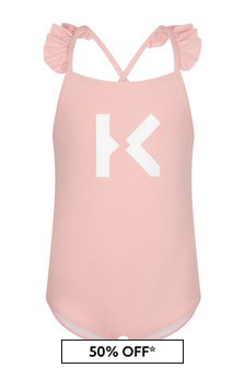 Kenzo Kids Baby Girls Pink Swimsuit