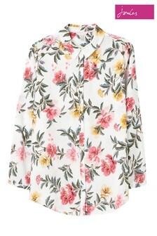 Joules Cream Elvina Button Front Woven Shirt