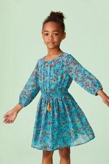 Floral Smocked Dress (3-16yrs)