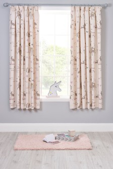 Enchanted Forest Pencil Pleat Curtains
