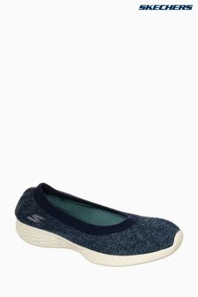 Skechers® Blue You Define Excellence Heathered Stretch Knit Slip-On