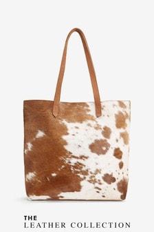 Leather Cow Hide Shopper