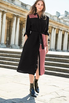 Colourblock Shirt Dress