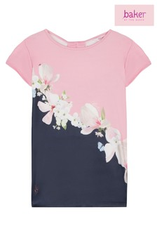 99a015d67 baker by Ted Baker Younger Girls Floral Placement Top