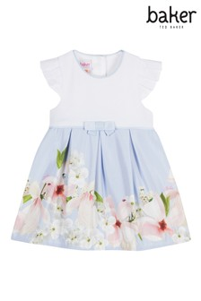 302b6f92e baker by Ted Baker Baby Girls Border Print Mockable Dress