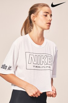 Nike Logo Training Crop Tee