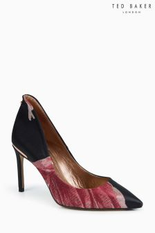 Ted Baker Savioj Black Pink Floral Embroidered Court Shoe
