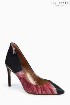 Ted Baker黑色粉色Savioj花朵圖案繡花包鞋