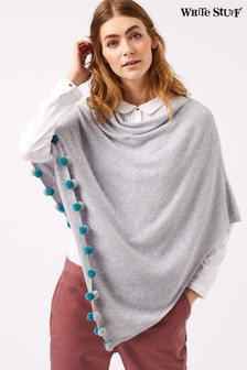 White Stuff Grey Lightweight Penelope Poncho