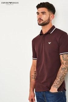 Emporio Armani Burgundy Poloshirt