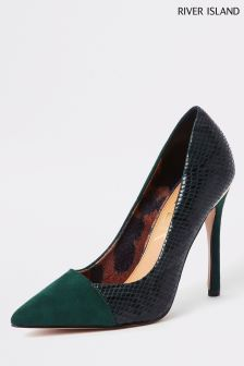 River Island Green High Heel Court